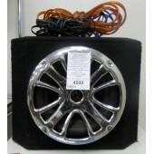 Автомобильный сабвуфер Mystery MBB-302A (180Вт, активный) + провода
